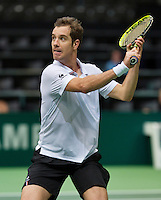 13-02-14, Netherlands,Rotterdam,Ahoy, ABNAMROWTT, Richard Gasquet(FRA)<br /> Photo:Tennisimages/Henk Koster