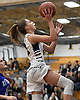 Danielle Pavinelli #12 of Northport drives to the net for a layup during the fourth quarter of a Suffolk County League II girls basketball game against Riverhead at Northport High School on Friday, Dec. 14, 2018. She recorded 11 points and five assists in Northport's 48-21 win.