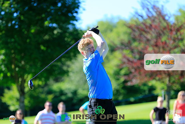 Stephen Gallacher (SCO) team during Wednesday's Pro-Am of the 2014 Irish Open held at Fota Island Resort, Cork, Ireland. 18th June 2014.<br /> Picture: Eoin Clarke www.golffile.ie