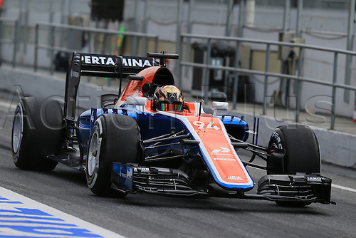 02.03.2016. Barcelona, Spain. Formula 1 winter car testing at Circuit de Barcelona Catalunya Test 2 Day 2.  Manor Racing MRT05 - Pascal . Wehrlein
