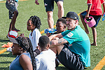 08.01.2019, Safe-Hub Diepsloot, Johannesburg, RSA, TL Werder Bremen Johannesburg Tag 06<br /> <br /> im Bild / picture shows <br /> Max Kruse (Werder Bremen #10), <br /> beim Besuch des Safe-Hub Diepsloot, Johannesburg im Rahmen des Trainingslagers in Südafrika, <br /> <br /> ** Attention * ** Attention * <br /> Only to be used for the purpose of documenting the Safe-Hub visit on 08 January 2019<br /> <br /> Foto © nordphoto / Ewert
