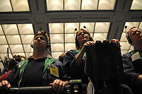 Traders on the floor of the Chicago Mercantile Exchange in Chicago, Illinois on September 18, 2008.  As a week of financial uncertainty has sent the stock market tumbling, commodities prices have soared as investors flock to the safer investments like gold.