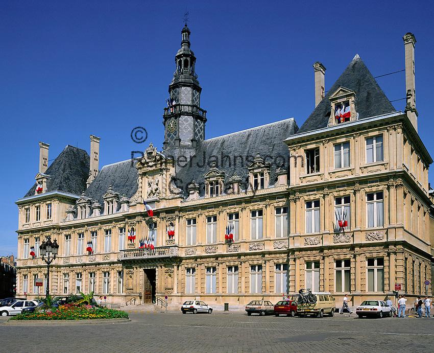 France, Département Marne, Champagne, Reims: Hôtel de Ville | Frankreich, Département Marne, Champagne, Reims: Hôtel de Ville