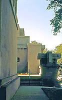 F.L. Wright: Unity Temple. Entrance.  Photo '76.