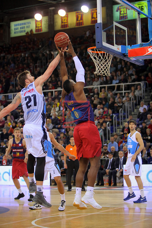League ACB-ENDESA 2016/2017 - Game: 16.<br /> FC Barcelona Lassa vs Rio Natura Monbus Obradoiro: 100-76.<br /> Whittington vs Joey Dorsey.