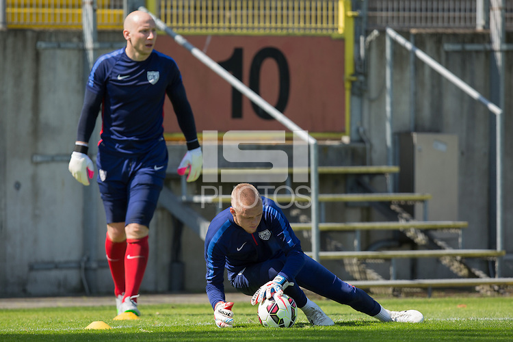 Düsseldorf, Germany - June 7, 2015: The USMNT train in preparation for their international friendly match vs Germany at Paul Janes Stadion.