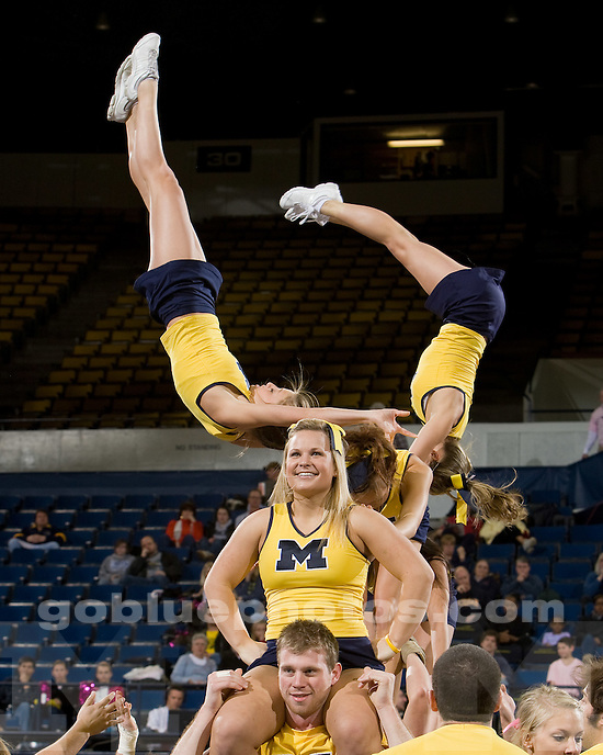 University of Michigan basketball (women) vs Wisconsin at Crisler Arena on 2/21/10.