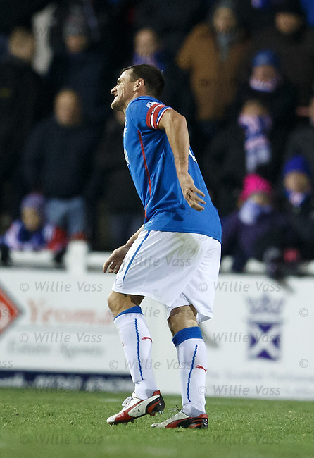 Lee McCulloch limping at the end
