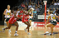 01.11.2012 England's Ama Abgeze in action during the netball test match between England and South Africa as part of the Quad Series played at the Claudelands Arena in Hamilton. Mandatory Photo Credit ©Michael Bradley.