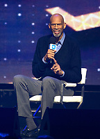 CHICAGO, IL: MAY 8: Kareem Abdul-Jabbar speaks onstage during the 2019 WE DAY Illinois at the Allstate Arena on May 8, 2019 in Chicago, Illinois. <br /> CAP/MPI/ISDD<br /> ©MPIISDD/Capital Pictures