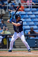 Binghamton Rumble Ponies third baseman Matt Oberste (18) at bat during a game against the Altoona Curve on June 14, 2018 at NYSEG Stadium in Binghamton, New York.  Altoona defeated Binghamton 9-2.  (Mike Janes/Four Seam Images)