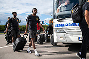 KALMAR, SWEDEN - JULY 01: Kalpi Ouattara of Ostersunds FK arrives to the stadium ahead of the Allsvenskan match between Kalmar FF and Ostersunds FK at Guldfageln Arena on July 1, 2020 in Kalmar, Sweden. (Photo by David Lidström Hultén/LPNA)