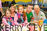 Enjoying the lunch at the soup kitchen at Ashe Street on Saturday, From left: Angel Mahony, Mary Mahony, Katelyn Mahony, Thomas Mahony and Billy Lyons.
