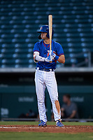 AZL Cubs 2 designated hitter Bryce Windham (2) at bat during an Arizona League game against the AZL Dbacks on June 25, 2019 at Sloan Park in Mesa, Arizona. AZL Cubs 2 defeated the AZL Dbacks 4-0. (Zachary Lucy/Four Seam Images)