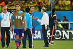 (L to R) <br /> Keisuke Honda, <br />   Alberto Zaccheroni (JPN), <br /> JUNE 24, 2014 - Football /Soccer : <br /> 2014 FIFA World Cup Brazil <br /> Group Match -Group C- <br /> between Japan 1-4 Colombia <br /> at Arena Pantanal, Cuiaba, Brazil. <br /> (Photo by YUTAKA/AFLO SPORT)