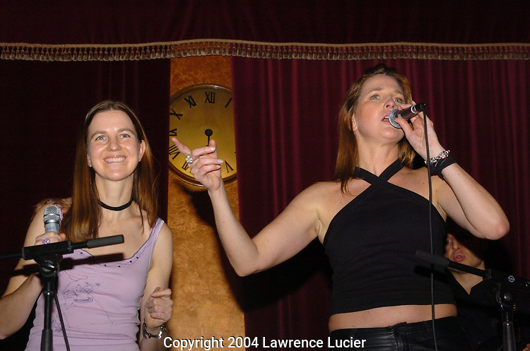 (L-R) Nanette Bruhn, Melina, of band Melina
