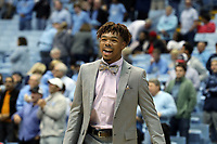CHAPEL HILL, NC - NOVEMBER 01: Anthony Harris #0 of the University of North Carolina during a game between Winston-Salem State University and University of North Carolina at Dean E. Smith Center on November 01, 2019 in Chapel Hill, North Carolina.