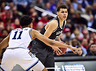 Washington, DC - MAR 11, 2018: Davidson Wildcats guard Kellan Grady (31) in action against Rhode Island Rams guard Jeff Dowtin (11) during the Atlantic 10 men's basketball championship between Davidson and Rhode Island at the Capital One Arena in Washington, DC. (Photo by Phil Peters/Media Images International)