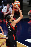 Washington, DC - Sept 17, 2019: Las Vegas Aces center Liz Cambage (8) shots the ball during WNBA Playoff semi final game between Las Vegas Aces and Washington Mystics at the Entertainment & Sports Arena in Washington, DC. The Mystics hold on to beat the Aces 97-95. (Photo by Phil Peters/Media Images International)