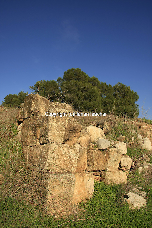 Israel, Tel Jezreel at the foothill of Mount Gilboa