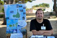 Isola di Pianosa.Pianosa Island.Roberto Miliani, guida ambientale.del Parco Nazionale Arcipelago Toscano.