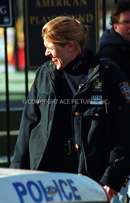 "Actress MOLLY PRICE takes a break from filming NBC's ""Third Watch"" in Brooklyn, New York. February 27, 2002. © 2002 by NY Photo Press.   ..*PAY-PER-USE*      ....NY Photo Press:  ..phone (646) 267-6913;   ..e-mail: info@nyphotopress.com"