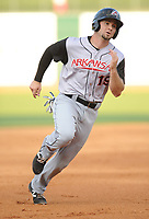 NWA Democrat-Gazette/ANDY SHUPE<br /> Arkansas Travelers designated hitter Dario Pizzano heads to third Saturday, June 10, 2017, during the fourth inning against the Northwest Arkansas Naturals at Arvest Ballpark in Springdale. Visit nwadg.com/photos to see more photographs from the game.