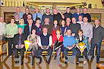RETIREMENT: Willie Hobbert with his wife Nada, St John's Park, Tralee, Moss Crowe with his wife Vera, Chutehall, Tralee and Mick Egan with his wife Ann, Gortalea (all seated) who retired from Irish Rail celebrating with family and friends at Stokers Lodge restaurant and bar, Tralee on Friday...