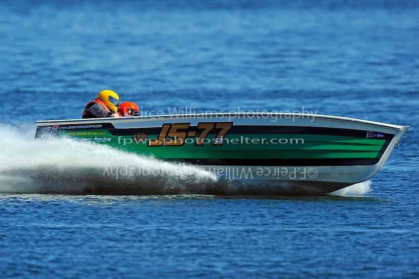 """Brian DeGlopper, JS-77 """"Zippy Pickle"""", (Baron Jersey Speed Skiff)"""