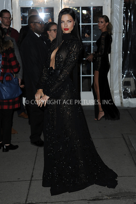 www.acepixs.com<br /> February 8, 2017  New York City<br /> <br /> Adriana Lima attending the amfAR New York Gala 2017 at Cipriani Wall Street on February 8, 2017 in New York City.<br /> <br /> Credit: Kristin Callahan/ACE Pictures<br /> <br /> Tel: 646 769 0430<br /> Email: info@acepixs.com