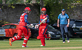 Issued by Cricket Scotland - Tilney Regional Series - Knights V Warriors - Grange CC - Dyland Budge and Preston Mommsen make runs - picture by Donald MacLeod - 28.04.19 - 07702 319 738 - clanmacleod@btinternet.com - www.donald-macleod.com