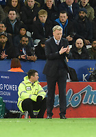 Sunderland Manager David Moyes during the Premier League match between Leicester City v Sunderland played at King Power Stadium, Leicester on 4th April 2017.<br /> <br /> available via IPS Photo Agency only