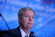 March 14, 2013  (National Harbor, MD)  U.S. Senator Lindsey Graham (R-SC) at the 2013 Conservative Political Action Committee (CPAC) Conference.  (Photo by Don Baxter/Media Images International)