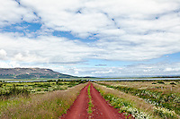 Red gravel road, Iceland