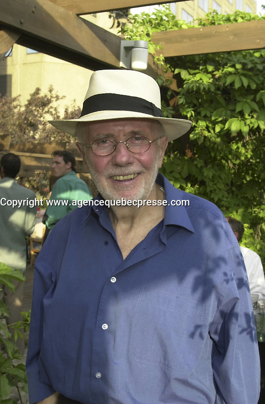 Sept 2002  File Photo of Quebec film maker Arthur Lamothe.<br /> Photo by Pierre Roussel