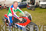 Jim Gibson, is seated on his MBA powered LCR chassis, which will compete in the 125cc class.