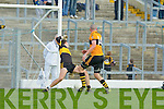 Kieran Donaghy toe pokes past Crokes keeper Alan Kelly to score Stacks goal during their quarter final clash in Fitzgerald Stadium on Sunday