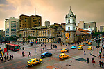 Colombia, Bogota, Intersection Of Avendia Jimenez And Carrera Septima, 16th Century Iglesia de San Francisco, Bogota's Oldest Restored Church, South America