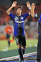 Lee Keun-Ho (Gamba), SEPTEMBER 10, 2011 - Football / Soccer : Lee Keun-Ho of Gamba Osaka celebrates after scoring the opening goal during the 2011 J.League Division 1 match between Gamba Osaka 2-0 Omiya Ardija at Expo '70 Stadium in Osaka, Japan. (Photo by AFLO)
