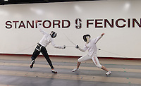 Berkeley, Ca - January 12, 2017: The 2017 Stanford Fencing Team