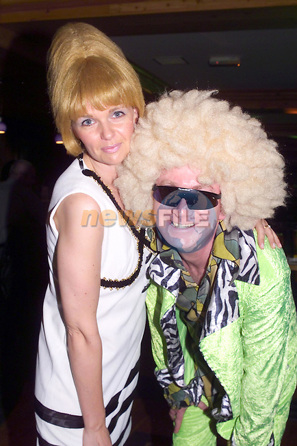 Susan Doorley and Niall Allen at the 70's night in the Village Hotel in aid of Laytown NS..Picture Fran Caffrey Newsfile...This Picture is sent to you by:..Newsfile Ltd.The View, Millmount Abbey, Drogheda, Co Louth, Ireland..Tel: +353419871240.Fax: +353419871260.GSM: +353862500958.ISDN: +353419871010.email: pictures@newsfile.ie.www.newsfile.ie