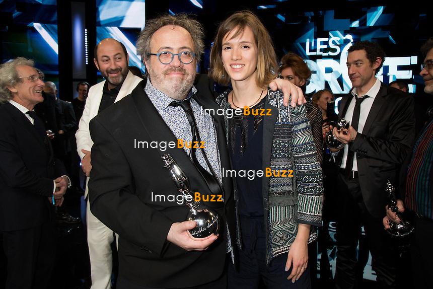 Jaco Van Dormael &amp; sa fille - Sixi&egrave;me c&eacute;r&eacute;monie des Magritte du cin&eacute;ma, qui r&eacute;compensent le septi&egrave;me art belge, au Square, &agrave; Bruxelles.<br /> Belgique, Bruxelles, 6 f&eacute;vrier 2016.<br /> Sixth edition of the Magritte du Cinema awards in Brussels.<br /> Belgium, Brussels, 7 February 2016