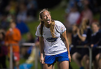 Julie King (8) of the Boston Breakers yells at the referee during the game at the Maryland SoccerPlex in Boyds, MD.  Washington tied Boston, 1-1.
