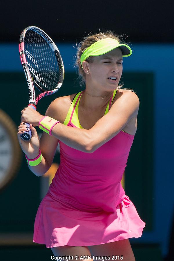 Eugenie Bouchard (CAN)<br /> <br /> Tennis - Australian Open 2015 - Grand Slam -  Melbourne Park - Melbourne - Victoria - Australia  - 25 January 2015. <br /> &copy; AMN IMAGES