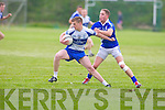 Castleisland Desmond's Donogh O'Connell and St Mary's Conor Quirke in action in the division 3 clash at Castleisland on Saturday.