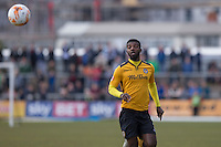 Medy Elito of Newport County during the Sky Bet League 2 match between Newport County and Notts County at Rodney Parade, Newport, Wales on 30 April 2016. Photo by Mark  Hawkins / PRiME Media Images.