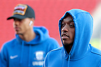 Preston North End's Darnell Fisher inspects the pitch before kick off Darnell Fisher<br /> <br /> Photographer David Shipman/CameraSport<br /> <br /> The EFL Sky Bet Championship - Rotherham United v Preston North End - Tuesday 1st January 2019 - New York Stadium - Rotherham<br /> <br /> World Copyright © 2019 CameraSport. All rights reserved. 43 Linden Ave. Countesthorpe. Leicester. England. LE8 5PG - Tel: +44 (0) 116 277 4147 - admin@camerasport.com - www.camerasport.com