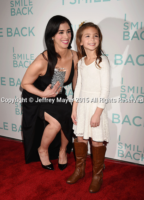 HOLLYWOOD, CA - OCTOBER 21: Actress Sarah Silverman (L) and Shayne Coleman arrive at the premiere of Broad Green Pictures' 'I Smile Back' at ArcLight Cinemas on October 21, 2015 in Hollywood, California.