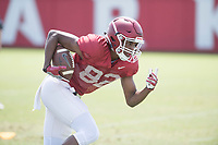 NWA Democrat-Gazette/J.T. WAMPLER Wide receiver Gary Cross during practice Saturday July 29, 2017 in Fayetteville.