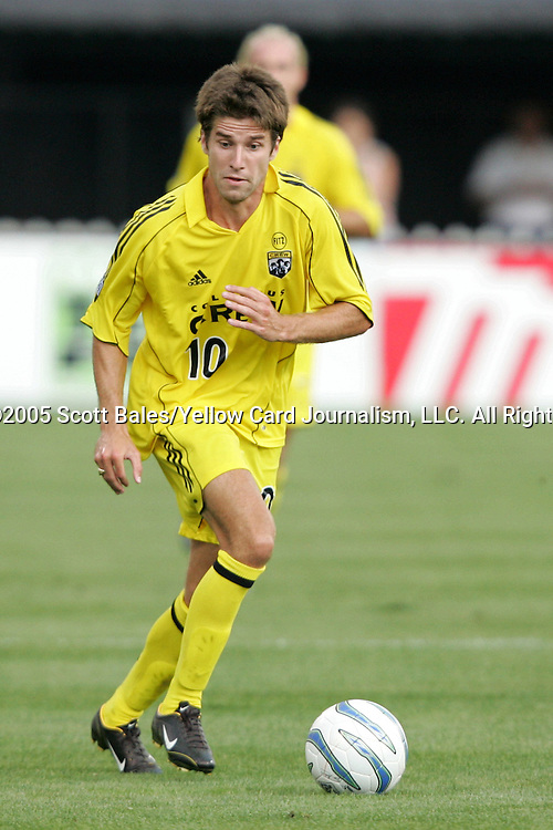 20 August 2005: Columbus's Kyle Martino. The Columbus Crew defeated FC Dallas 1-0 at Columbus Crew Stadium in Columbus, Ohio in a Major League Soccer Regular Season Match.